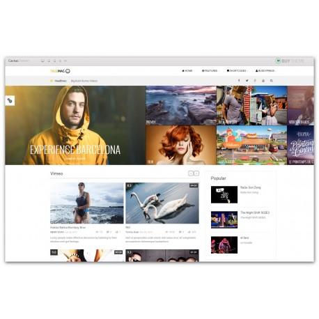 WordPress True Mag Video and Magazine