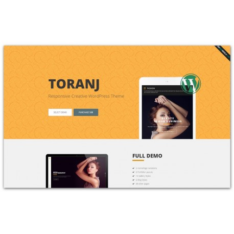 WordPress Toranj - Responsive