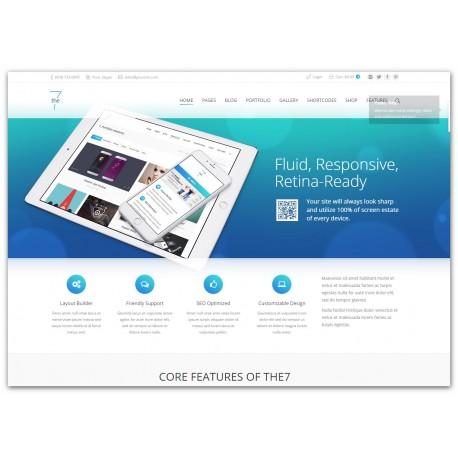 WordPress The7 - Responsive Multi-Purpose