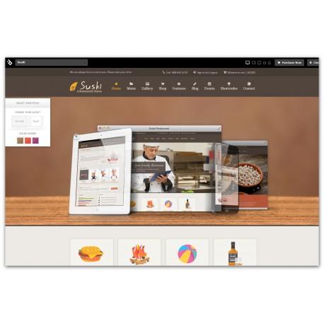 WordPress Sushi Responsive Restaurant Premium
