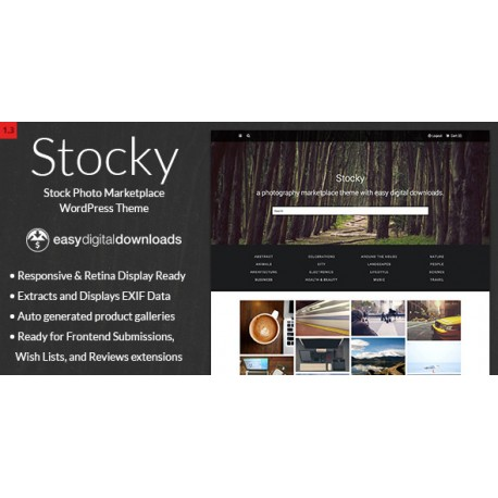 wp-017 - Stocky v1.2.1 - A Stock Photography Marketplace Theme