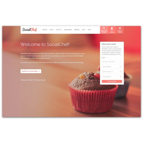 WordPress SocialChef - Social Recipe