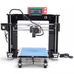 MIGBOT I3 DIY acrílica quadro de tela de LED 3D RepRap Printer auto (Preta)