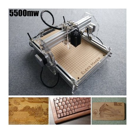 Máquina 5500mw A5 Mini Laser Engraving - 5500MW SILVER