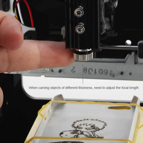 NEJE DK-8 Pro-5 500mW Laser Engraver Printer - PRETO