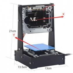 NEJE DK - 6 Pro - 5 500mW Laser Printer Engarver - Azul e preto
