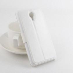 Bolsa de Couro Flip para MEIZU M2 Branco
