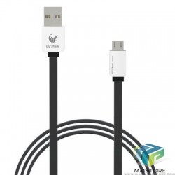 Old Shark 1m Micro USB Flat Cable